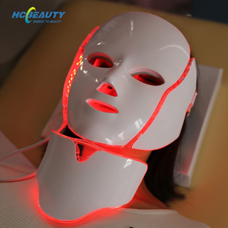 7 Colors Light Therapy Facial Acne at Home Led Mask with Neck FM8
