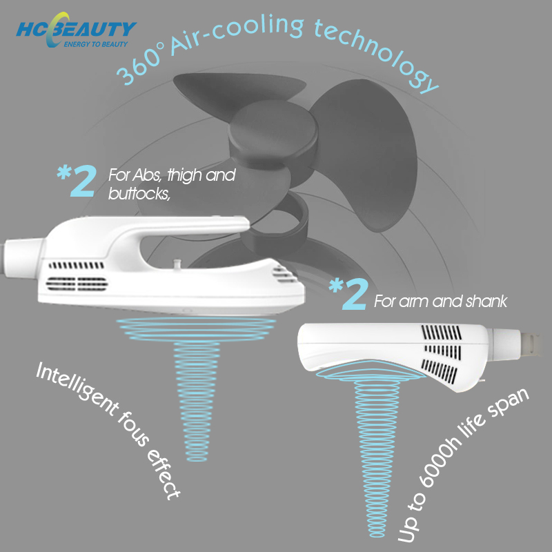 New Air Cooling Technology Beautiful Muscle Hiemt Pro Machine Portable Cellulite Fat Removal Body Sculpting