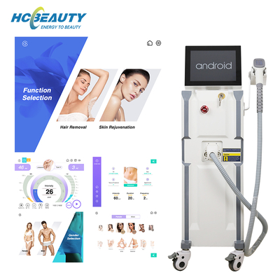 Non Invasive 3 Wavelength Beauty Clinic Professional Laser Hair Removal Machines Sale
