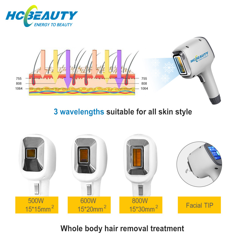 Hair Removal Machine 755 808 1064nm Diode Laser