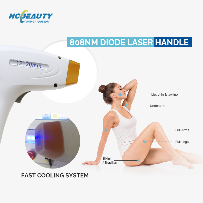 Portable Skin Rejuvenation Laser Hair Removal with Q- Swhich with 2 Handles