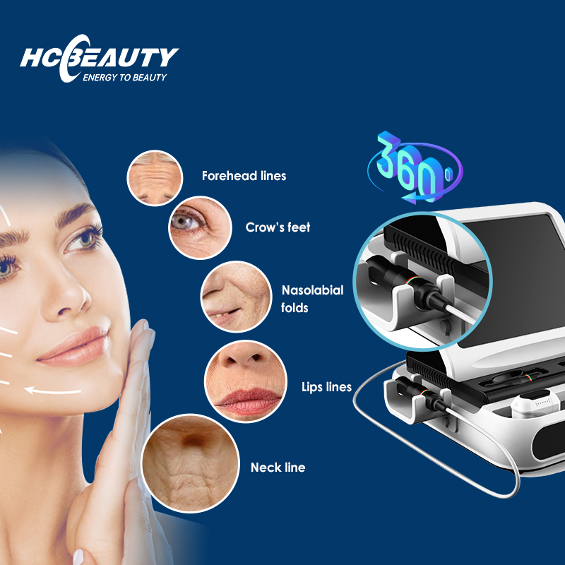 Collagen remodeling and elastine fiber contraction 3d hifu 11 lines adjustable for face lift machine